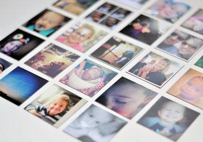 Fotomagnetky s vlastnej fotky vytlačené na magnetickej fólii