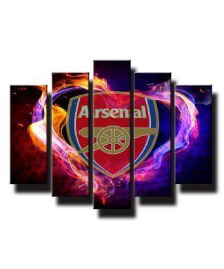 5 dielny obraz na stenu Arsenal