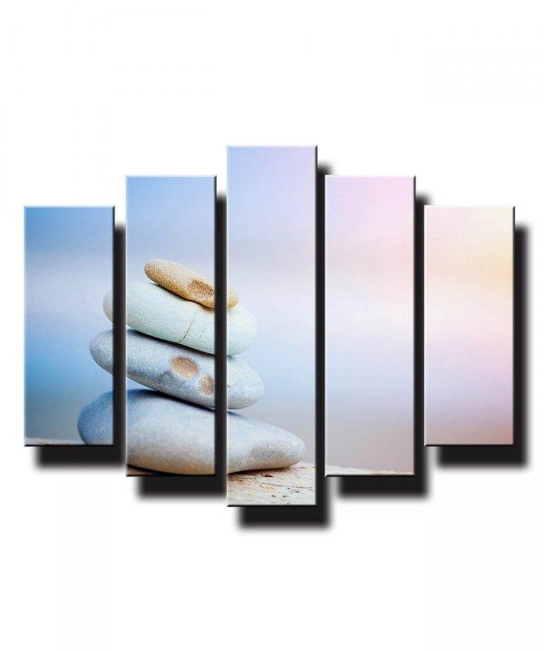 5 dielny obraz na stenu kamene na pláži