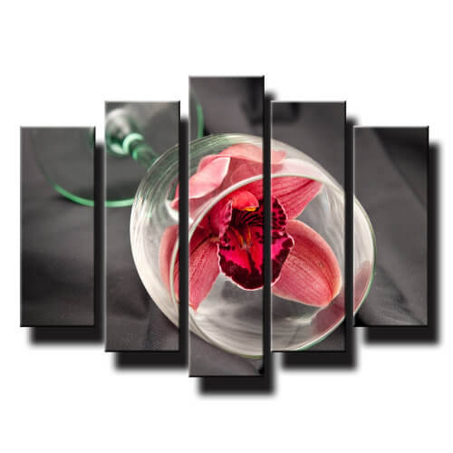 5 dielny obraz orchidea v pohary